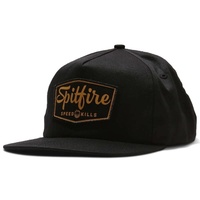 SPITFIRE ADJ GASSER CAP BLACK SNAPBACK NEW AUST SELLER FREE POST CAPS HAT