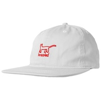 Krooked Skateboards KAT EMB 6 Panel Hat WHITE New Cap  Free Post Aus Seller