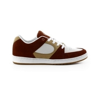 ES ACCEL SLIM BROWN TAN WHITE SKATEBOARD SHOES AUSTRALIAN SELLER FREE POSTAGE