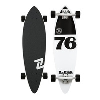 "Z-FLEX MIN PIN 76 WHITE / BLACK PINTAIL LONGBOARD 38"" AUST SELLER NEW"