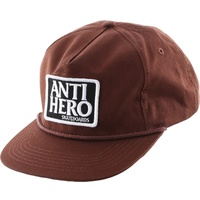 Anti Hero Skateboards Brown Reserve Patch Snap back Hat New Cap Free Post Aus