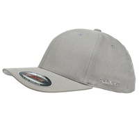 FLEXFIT PERMA CURVE CAP GREY 6277 NEW FLEX FIT CAP AUST HAT CAPS LIGHT GREY