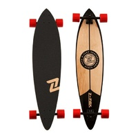"Z-FLEX LONGBOARD PINTAIL BLACK 38"" NEW SKATEBOARD CRUISER FREE POST AUST Z FLEX"