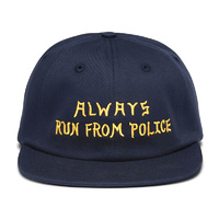 Five Boro Always Run Cap New NAVY Hat Skate Free Post Aus Strap Back 5 Boro