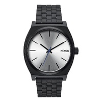 NIXON TIME TELLER Black / Silver WATCH NEW FREE POSTAGE AUST SELLER