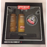 Uppercut Deluxe Combo Gift Set Mens Hair Monster Hold Shampoo Conditioner & Comb