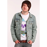KREW CLOTHING DYLAN DENIM JACKET LIGHT BLUE SKATE SKATEBOARD KINGPIN STORE SALE
