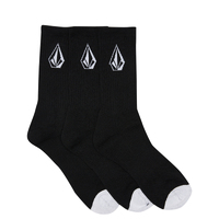 Volcom New Black Full Stone Socks Free Post Aus Seller Skateboard Kingpin Skate