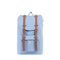 HERSCHEL LITTLE AMERICA CHAMBRAY CROSSHATCH TAN BACKPACK SUPPLY BACK PACKS BAGS