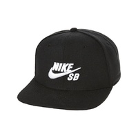 NIKE SB CAP HAT BLACK / WHITE SNAPBACK CAP NEW AUST SELLER