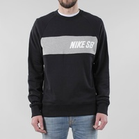 NIKE SB EVERETT CREWNECK BLACK DARK GREY SWEATSHIRT JUMPER FREE POST AUST SELLER