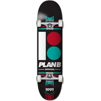 "PLAN B SKATEBOARD COMPLETE TEAM OFFICIAL 8"" BLACK SKATE AUST SELLER FREE POST"