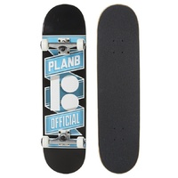 "PLAN B SKATEBOARD COMPLETE TEAM BANNER 8"" BLACK SKATE AUST SELLER FREE POST"