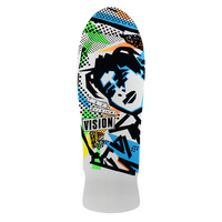 "Vision Mark Gonzales WHITE 10.0"" Reissue Skateboard Deck GONZ NEW SKATE"
