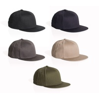 AS COLOUR BILLY PANEL CAP 1109  PLAIN BLANK SNAPBACK HAT AUSTRALIAN