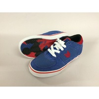 VOX FOOTWEAR KIDS TROOPER NAVY / RED / WHT SKATEBOARD SCHOOL SHOES KINGPIN STORE