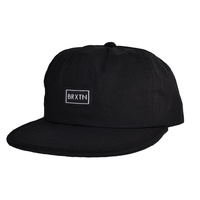 BRIXTON JONAS 6 PANEL CAP BLACK NEW HAT SKATE SHOP FREE POST AUST SELLER KINGPIN