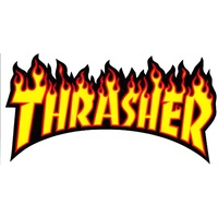 THRASHER SKATEBOARD MAGAZINE FLAME STICKER BLACK NEW AUSTRALIAN SELLER KINGPIN