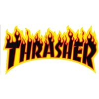 THRASHER SKATEBOARD MAGAZINE FLAME STICKER YELLOW NEW AUSTRALIAN SELLER KINGPIN