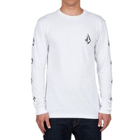 VOLCOM DEADLY STONES LONG SLEEVE TEE WHITE AUSTRLIAN SELLER FREE POSTAGE KINGPIN