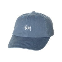 STUSSY STOCK LO PRO STRAPBACK STEEL BLUE HAT CAP 6 PANEL NEW AUSTRALIAN