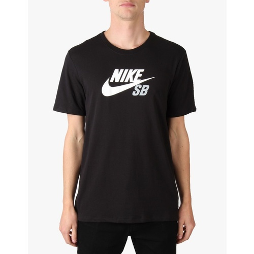 NIKE SB DRI-FIT ICON LOGO TEE BLACK WHITE