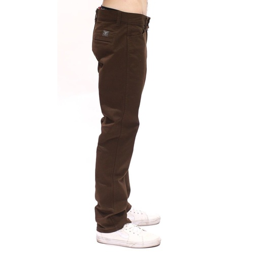 VOLCOM X ANTIHERO GRITTER REGULAR PANTS BROWN STRAIGHT CHINO SKATE FREE POST AUS