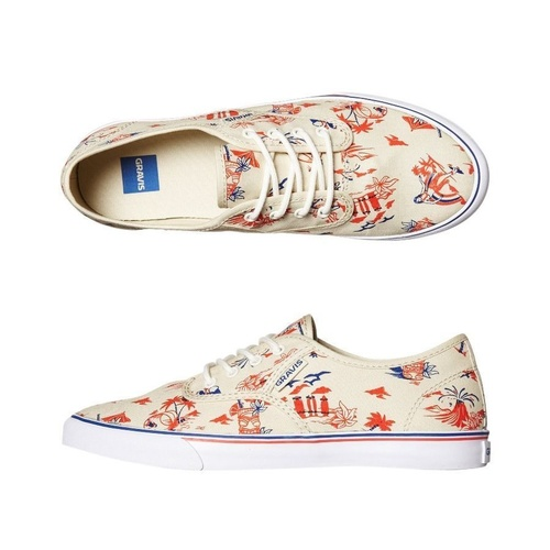 NEW GRAVIS BURTON SHOES SLYMZ ALOHA/WHITE SURF SKATE SNEAKER KINGPIN STORE