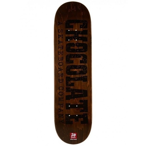 "CHOCOLATE ALVAREZ 8.5"" HERITAGE SERIES SKATEBOARD DECK FREE GRIP TAPE"