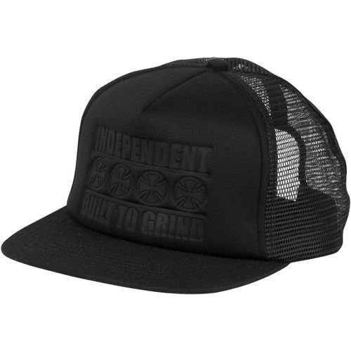 INDEPENDENT TRUCK CO. BUILT TO GRIND TRUCKER BLACK HAT CAP