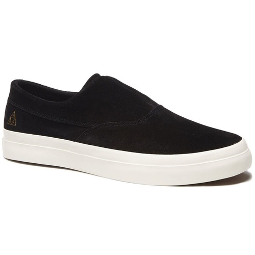 HUF SHOES DYLAN SLIP ON BLACK / WHITE FREE POSTAGE AUST SELLER VC62003 SUEDE