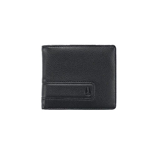 NIXON SHOWDOWN BI-FOLD ZIP COIN POCKET ALL BLACK WALLET AUST SELLER C943 001-00