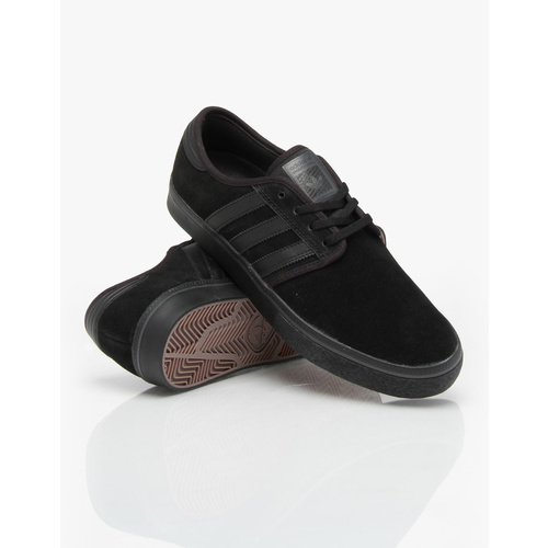 ADIDAS SHOES SEELEY ALL BLACK BLACK SKATEBOARD FREE POSTAGE AUSTRALIAN SELLER