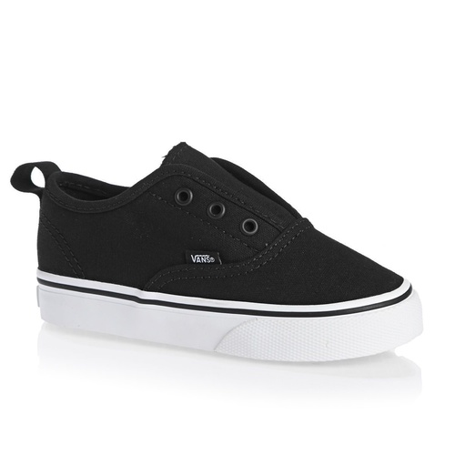 Vans Shoes Tots Authentic V  BLACK / TRUE WHITE Children Toddler Boys NEW