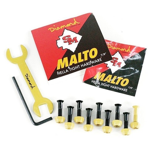 "DIAMOND SKATEBOARD BOLTS MALTO 7/8"" BLACK FREE POSTAGE AUSTRALIAN SELLER"