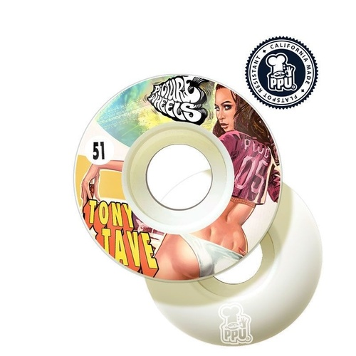 PICTURE SKATEBOARD WHEELS 51MM KUNGFU DRIFTERS 4 PACK FREE POST AUST SELLER