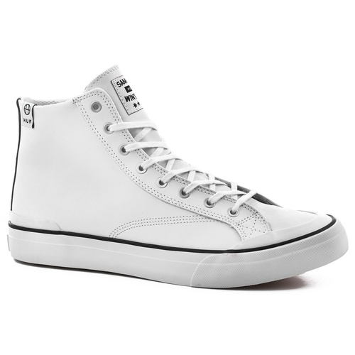 HUF SAMMY WINTER PRO SHOE PREMIUM WHITE LEATHER CLASSIC HI SHOES NEW SKATE AUS