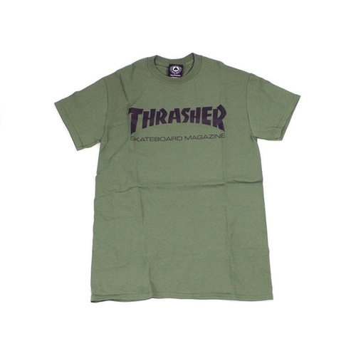Thrasher Skate mag T-Shirt Tee New Army Green Skate Shop Aust Seller Thrasher