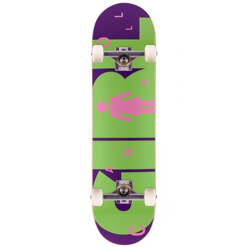 "GIRL COMPLETE SKATEBOARD ADVERTYPE 7.8"" MIKE CARROLL AUST SELLER SKATE"
