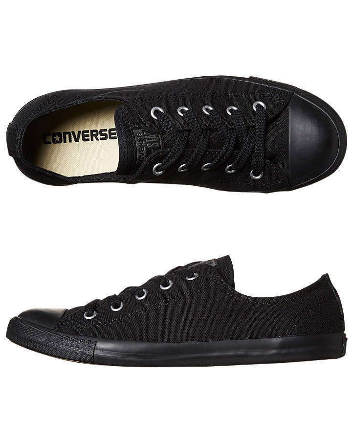 CONVERSE-Chuck-Taylor-All-Star-Dainty-CANVAS-Lo-Shoe-Black-mono-WOMENS-US-SIZES thumbnail 7