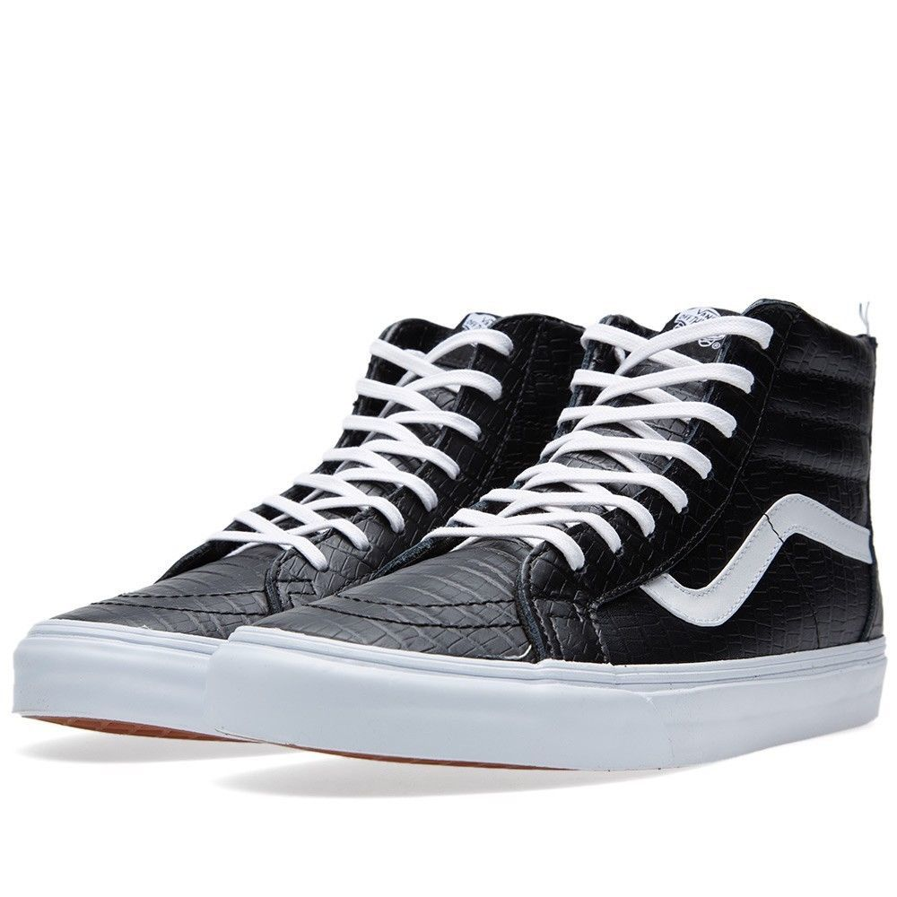 749ccf68e80285 VANS SHOES SK8 HI ZIP CA CROC LEATHER BLACK NEW AUSTRALIAN SELLER FREE  POSTAGE