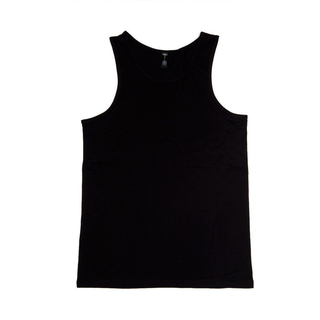 0bce320fa90c52 AS COLOUR SINGLET LOWDOWN TANK TOP PLAIN BLACK NEW ...