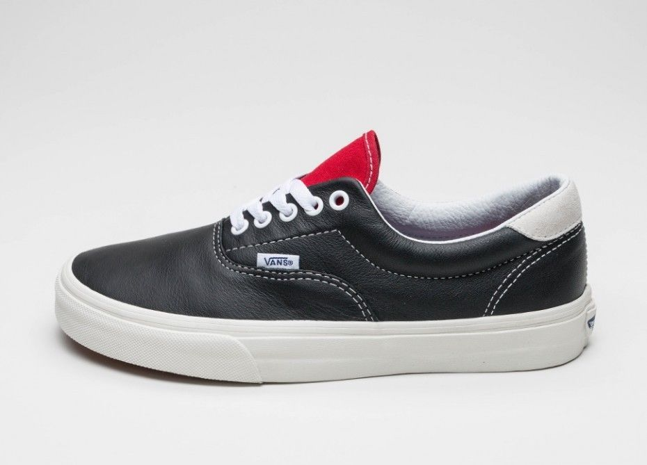 0ba8e33427 VANS ERA 59 BLACK VINTAGE SPORT BLACK   RACING RED SHOES MENS LEATHER