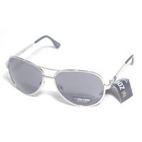 ZOO YORK SUNGLASSES SILVER METAL AVIATORS