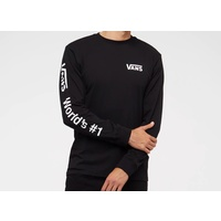 VANS SHOES WORLDS #1 LONG SLEEVE TEE BLACK T-SHIRT AUTHENTIC NEW