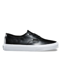 VANS SHOES AUTHENTIC DECON D SMOOTH LEATHER BLACK SKATE SKATEBOARD VN-08EQMS1