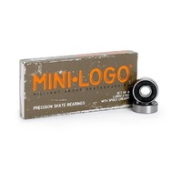 MINI-LOGO SKATEBOARD PRECISION BEARINGS CRUISER LONGBOARD INLINE BLACK KINGPIN