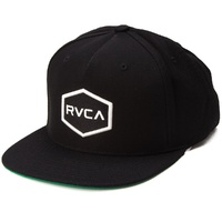 RVCA RVCA Commonwealth Snapback Hat RUCA CAP BLACK / WHITE NEW YUPOONG