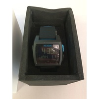 NIXON BASE TIDE WATCH BLACK BLUE NEW FREE POSTAGE AUST SELLER A1104 018 WATCH