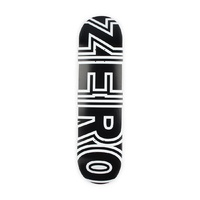"ZERO DECK BOLD BLACK WHITE 8.0"" SKATEBOARD FREE GRIP AUSTRALIAN SELLER"